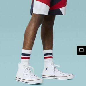 All White High-top Classic Converse Sneaker!
